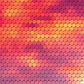Sundown themed background with circular grid — Vetorial Stock