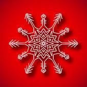 Snowflake with shadow — Stok Vektör