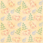 Christmas themed seamless pattern — Stock Vector