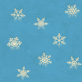 Vintage seamless pattern with snowflakes — Stock Vector