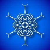 Snowflake with shadow — Stock vektor