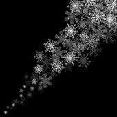 Nevasca de flocos de neve na escuridão — Vetorial Stock