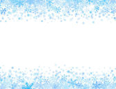 Frame with small snowflakes — Stock Vector