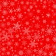 Red seamless Christmas pattern with different snowflakes — Stock Vector #60066481