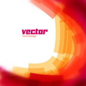 Vector background with red blurred lines — Stock Vector