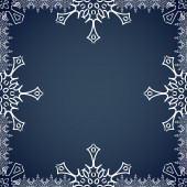 Christmas frame with snowflakes on the edges — Stockvector