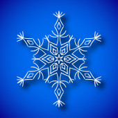 Snowflake with shadow — Vecteur