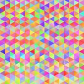 Colorful pattern with chaotic triangles — Stock Vector