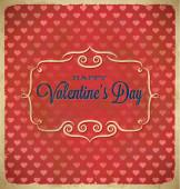 Valentines Day polka dot frame with hearts — Stockvektor
