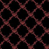 Ornamentales de patrones sin fisuras con corazones — Vector de stock