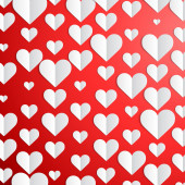 Valentines Day background with paper hearts  — Stockvektor