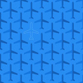 Flat styled seamless pattern with missing plane — Stockvektor
