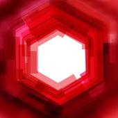 Vektorové pozadí s červeným rozmazané šestiúhelník — Stock vektor