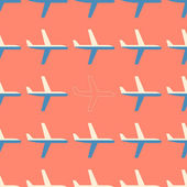 Flat styled seamless pattern with missing plane — Vector de stock