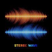 Stereo sound waveform — Stock Vector