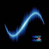 Wave shaped sound waveform — Stock Vector