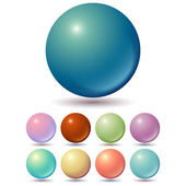 Set of muted color balls — Stock Vector