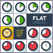 Set of clocks with 10 minutes interval — Stockvector
