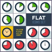 Set of clocks with 10 minutes interval — Stockvektor