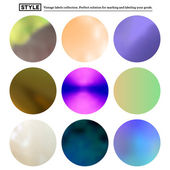 Set of colorful blurred round spots — Stock Vector