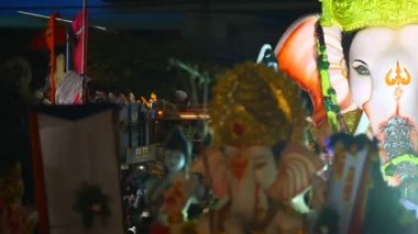 Lord Ganesha Statue At Hyderabad India — Vídeo de stock