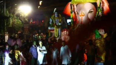 Lord Ganesha Statue in Hyderabad, Indien — Stockvideo