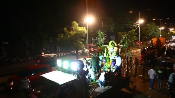 Señor Ganesha estatua en Hyderabad la India — Vídeo de stock