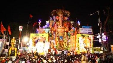 Pana Ganesha statua w Hyderabad, Indie — Wideo stockowe