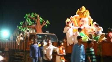 Lord Ganesha Statue At Hyderabad India — Stock Video