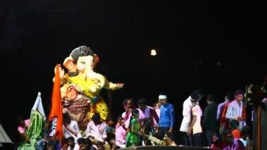 Lord Ganesha Statue At Hyderabad India — Stockvideo