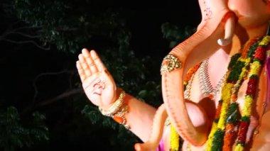 Lord Ganesha Statue At Hyderabad India — Vídeo stock