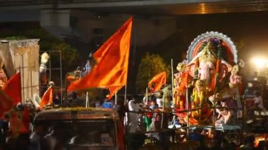 Lord Ganesha Statue At Hyderabad India — Wideo stockowe