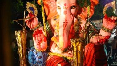 Lord Ganesha Statue At Hyderabad India — Video Stock