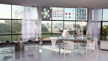 Interior shot of building — Стоковое видео
