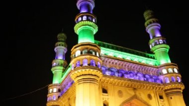 Old city Charminar India — Stock Video