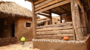 Rural house at Rajasthan India — ストックビデオ