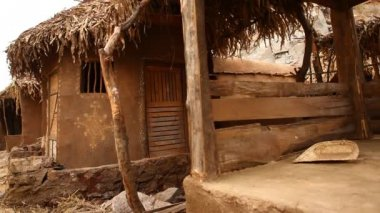 Domek wiejski w Radżastan Indie — Wideo stockowe