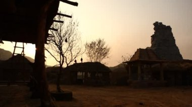 Rural house at Rajasthan India — Stock Video