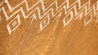 Art work on Rural area wall — Wideo stockowe