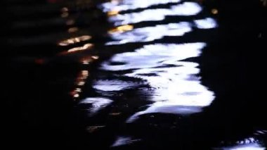 Light water Reflection in the pond — Stock Video