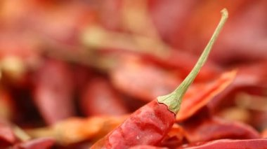 Red chilies at village house — Vídeo de stock