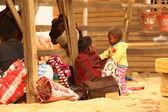 Village poor people in Disert Rajasthan India — Stock Photo