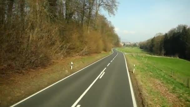 Viaje del camino en lugar de Suiza — Vídeo de stock