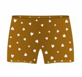 Boxer shorts with white hearts — Stock Vector