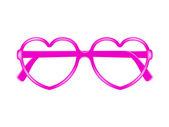 Sun glasses frame in shape of heart — Stock Vector