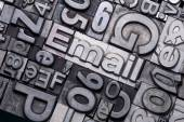 Lead type letters — Stock Photo