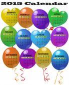 Calendrier ballon 2015 — Vecteur