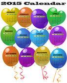 2015 balon takvim — Stok Vektör