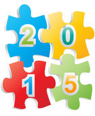 2015 puzzle — Stock Vector