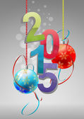 Bolas de natal de 2015 — Vetorial Stock